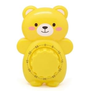 3 PCS Cartoon Bear Timer Keuken Gadget Mechanische Timer (Geel)