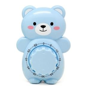 3 PCS Cartoon Bear Timer Keuken Gadget Mechanische Timer (Blauw)
