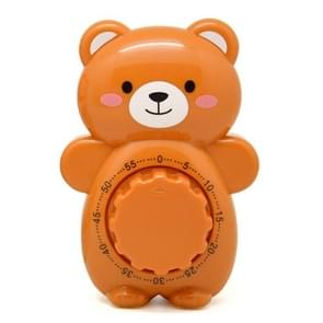 3 PCS Cartoon Bear Timer Keuken Gadget Mechanische Timer (Bruin)