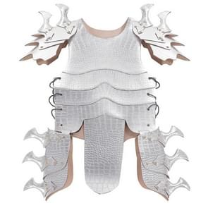 Halloween Carnaval Kinderen Handsome Leather Dragon Armor  Size: One Size (Zilver)