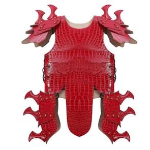 Halloween Carnaval Kinderen Handsome Leather Dragon Armor  Size: One Size (Red)