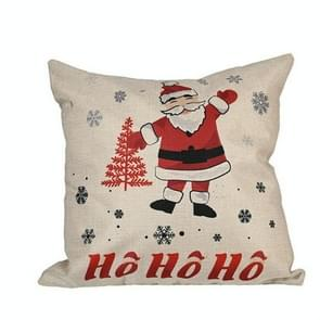 4 PCS kerstversiering Linnen kussenslopen vierkante kussenslopen zonder pillow core (HOHO Santa Claus)