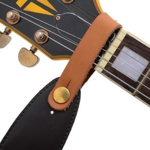 Leather Guitar Universal Head Strap(Brown)