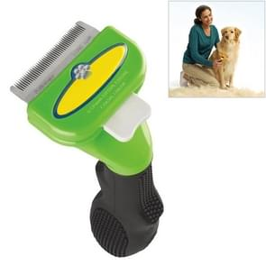 Large Medium and Small Dog Cat General Pet Hair Removal Comb, Size:Long hair(Green S)