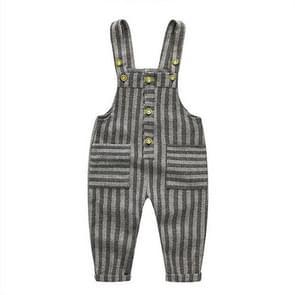 Children Openable Cotton Bib Jumpsuit, Size:95cm(Stripes)