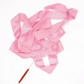 5 PCS 4 m Artistic Color Gymnastics Ribbon Dance Props Children Toys(Pink)