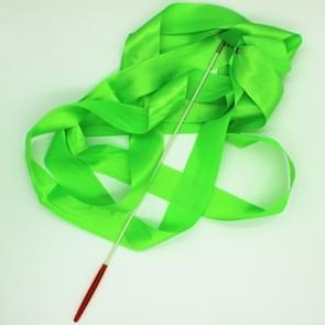 5 PCS 4 m Artistic Color Gymnastics Ribbon Dance Props Children Toys(Green)