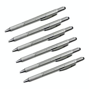 6 in 1 Multi-function Ballpoint Screwdriver Pen Scale Ruler Touch Screen Pen Tool Teaching Office Supplies