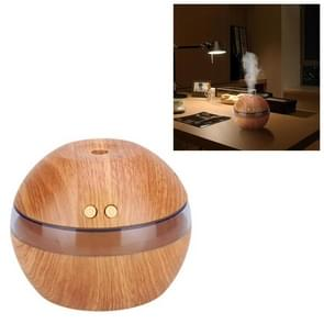 Imitation Wood Grain Ball Mini Car Humidifier USB Mute Big Spray Humidification Water Hydrator(Light wood)
