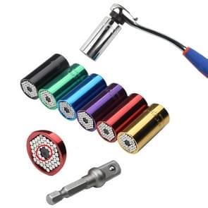 2 Pcs/Set Universal Torque Wrench Head Set Socket Sleeve 7-19mm Power Drill Ratchet Bushing Spanner Key Magic Multi Hand Tools