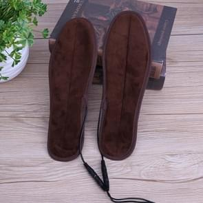 2 Pairs USB Shoe Dryer Electric Insoles Shoe Winter Keep Warm Heated Insole for Shoes Boot, Size:37-38