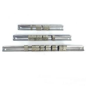 Carbon Steel 8 Socket Rack Storage Divider Rail Tray Holder Brackets Shelf Stand Tool Organizer Socket Socket Wrench Storage(260mm)