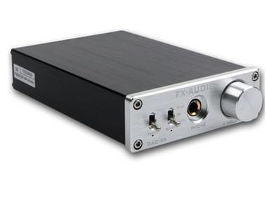 FX-AUDIO DAC-X6 koorts HiFi Fiber coaxiale USB amp digitale audio DAC decoder 24-bit/192 (zilver)