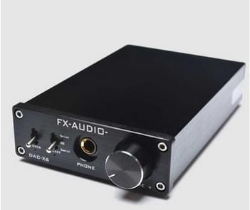 FX-AUDIO DAC-X6 Fever HiFi Fiber coaxiale USB amp digitale audio DAC decoder 24BIT/192 (zwart)