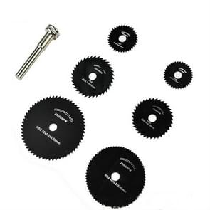7 PCS/Set Electric Grinder Saw Blade High Speed Steel Saw Blade Woodworking Saw Blade High Speed Steel Cutting Piece, Model:11025