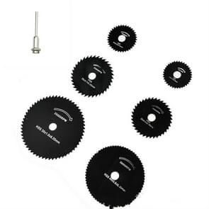 7 PCS/Set Electric Grinder Saw Blade High Speed Steel Saw Blade Woodworking Saw Blade High Speed Steel Cutting Piece, Model:11027