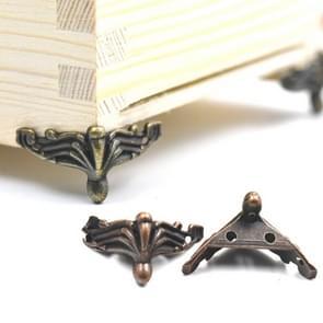 10 PCS Antique Bronze Jewelry Gift Box Wood Case Decorative Feet Leg Corner Protector