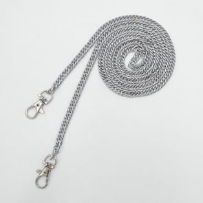 10 PCS Metal Chain Shoulder Bags Handbag Buckle Handle DIY Double Woven Iron Chain Belt 120cm(Chrome Black)
