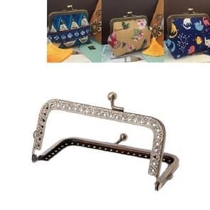 10 PCS Square Embossed Wallet Handtas Metalen handvat  Grootte: 12 5 cm