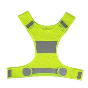 High Visibility Reflective Vest Unisex Outdoor Safety Vests Cycling Vest Men Working Night Running Sports Outdoor Clothes, Size:L(Waist 36.2-41.7in)(Yellow)
