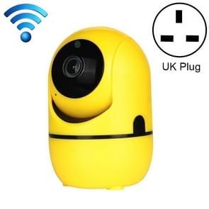 HD Cloud Wireless IP Camera Intelligent Auto Tracking Human Home Security Surveillance Network WiFi Camera, Plug Type:UK Plug(720P Yellow)