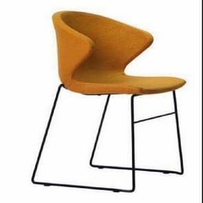 Nordic eetkamerstoel Hotel Receptie stoel thuis smeedijzeren stoel rugleuning onderhandeling Lounge bureaustoel (oranje)