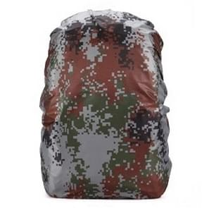 Waterproof Dustproof Backpack Rain Cover Portable Ultralight Outdoor Tools Hiking Protective Cover 35L(Digital Camouflage)