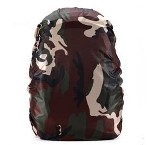 Waterproof Dustproof Backpack Rain Cover Portable Ultralight Outdoor Tools Hiking Protective Cover 50-60L(Camouflage)