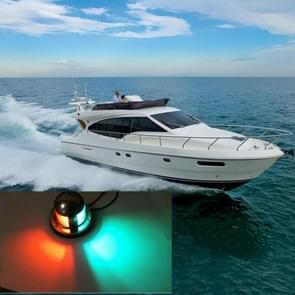 4W 12V IP65 Waterproof Stainless Steel Two-color Marine Signal Light Red and Green LED Lights