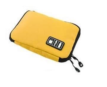 Buitenactiviteiten reisgegevens kabel zakken rugzak SD-kaart lader rits zak (geel)