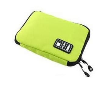 Buitenactiviteiten reisgegevens kabel zakken rugzak SD-kaart lader rits zak (groen)