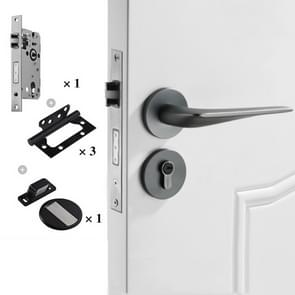 Space Aluminium Indoor Mute Split Lock Slaapkamer Solid Handle Houten Deur Hardware Lock  Style: Standard 58 Mute Pakket