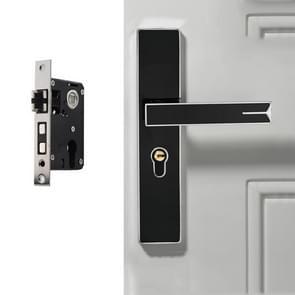 Demp sterk magnetische aluminium legering interieur deurslot deur slaapkamer hardware handvat slot  kleur: zwart zilver kleine 50 Lock Body