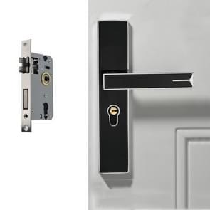 Demp sterk magnetische aluminium legering interieur deurslot deur slaapkamer hardware handvat slot  kleur: zwart zilver grote 50 Lock body