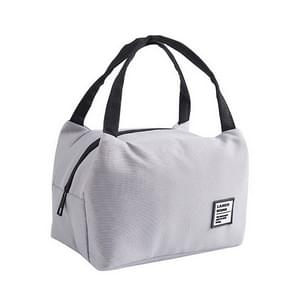 Portable Lunch Bag Thermal Insulated Lunch Box Tote Cooler Bag Bento Pouch Lunch Container School Food Storage Bags(Grey)