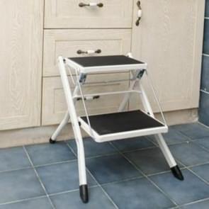 YSF-7020 Creative Folding Simple Step Stool Kitchen Bench Portable Home Stool(Iron White)