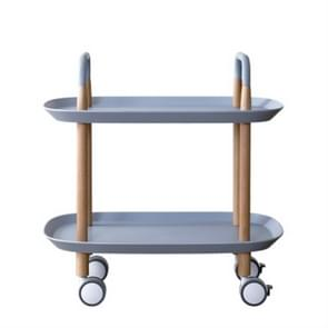 Fashion Kitchen Trolley Nordic Simplified Sitting Room Accommodating Mobile Sofa Home Multifunctional Dining Car(Grey Blue)