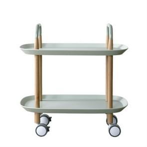 Fashion Kitchen Trolley Nordic vereenvoudigd zitkamer geschikt voor Mobile Sofa Home Multifunctionele Dining Car (Mint Green)