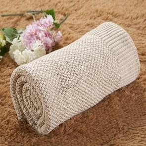 Newborn Baby Blanket Cotton Toddler Bedding Quilt Newborn Swaddle Wrap, Size:85*105cm(Beige)