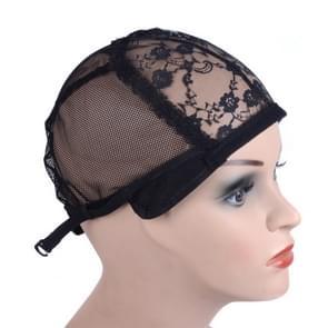 3 stuks elastische haar netto GLB Lace mesh bodem cover pruik accessoires  grootte: 56CM (zwart)