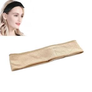 Handgemaakte Velvet pruik haarband pruik vaste hoofdband (beige)