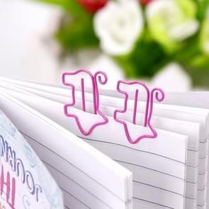 10 PCS Cute Animal Pink Pig Bookmark Paper Clip School Office Supply Metal Gift Stationery