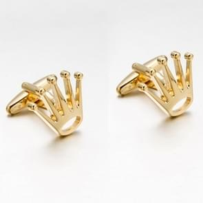 1 Pair Crown Tuxedo Shirt Cufflinks(gold color)
