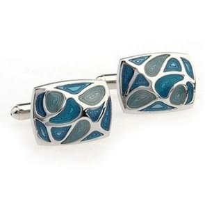 1 Pair Fashion Blue Enamel Cufflink for Men / Women