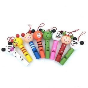 2 PC'S creatieve cartoon houten dierlijke Whistle kinderen milieubescherming mobiele telefoon rugzak hanger (kleur en stijl willekeurige levering)