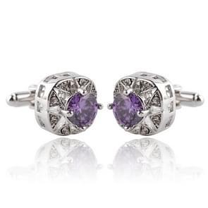 1 paar fashion luxe kristallen Manchetknopen