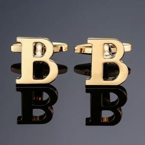 1 paar gouden letters A-Z naam Manchetknopen mannen Frans shirt Manchetknopen (B)
