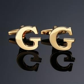 1 paar gouden letters A-Z naam Manchetknopen mannen Frans overhemd Manchetknopen (G)