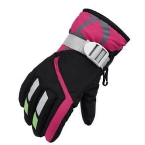 Buiten kinderen dik warm skiën handschoenen  een paar (zwart)