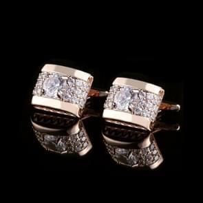 Men Business Casual Diamond Cufflinks(Gold)